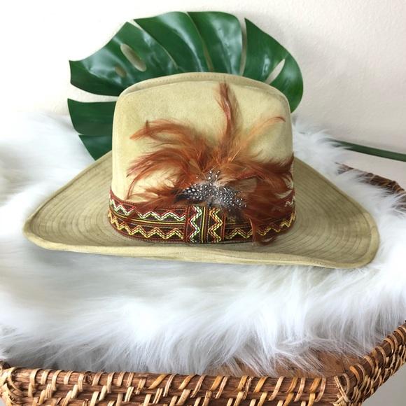 The Duke Collection cowboy boho hat tan vintage